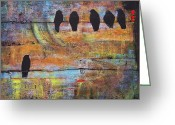 Art On Wall Greeting Cards - First Step is the Dream Greeting Card by Blenda Tyvoll