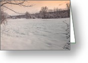 Connecticut Winter Scene Greeting Cards - First Steps Greeting Card by Bill  Wakeley