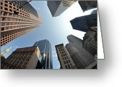 Massachusetts Greeting Cards - Fish-eye Lens Of Building Greeting Card by Robin Houde photography