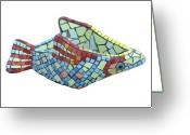 Fish Sculpture Greeting Cards - Fish Greeting Card by Katia Weyher