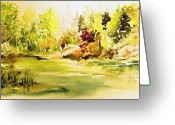 Fish Pond Painting Greeting Cards - Fish Pond at Nutimik Lake Manitoba Greeting Card by Joanne Smoley