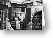 Souk Greeting Cards - Fish Shop Greeting Card by Marion Galt