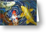 Goldfish Greeting Cards - Fish Soup Greeting Card by Pat Burns