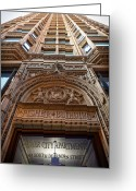 Apartment Greeting Cards - Fisher Building Chicago Greeting Card by Steve Gadomski
