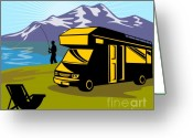 Jumping Digital Art Greeting Cards - Fisherman caravan Greeting Card by Aloysius Patrimonio
