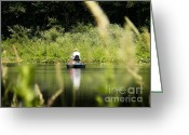 Indiana Rivers Greeting Cards - Fisherman Greeting Card by Joyce L Kimble