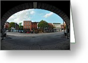 Fisheye Greeting Cards - Fisheye Shops  Greeting Card by Murray Bloom