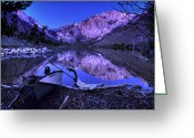 Mountain Landscape Greeting Cards - Fishing at Convict Lake Greeting Card by Sean Foster