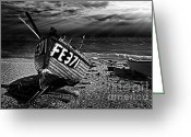 Fishing Boat Greeting Cards - fishing boat FE371 Greeting Card by Meirion Matthias