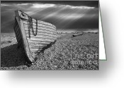 Rowboat Greeting Cards - Fishing Boat Graveyard 2 Greeting Card by Meirion Matthias