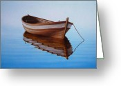 Row Greeting Cards - Fishing Boat I Greeting Card by Horacio Cardozo