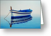 Wood Greeting Cards - Fishing Boat II Greeting Card by Horacio Cardozo