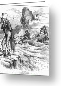 Commission Photo Greeting Cards - Fishing Rights, 1877 Greeting Card by Granger