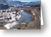 Chama River Greeting Cards - Fishing the Chama Greeting Card by FeVa  Fotos