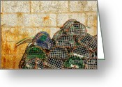 Quay Greeting Cards - Fishing Traps Greeting Card by Carlos Caetano