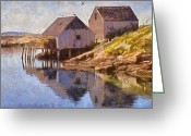 Seagulls Greeting Cards - Fishing Wharf Greeting Card by Jeff Kolker