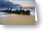 Wreck Greeting Cards - Fishing with History Greeting Card by Mike  Dawson
