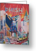 Phish Greeting Cards - Fishman in Vegas Greeting Card by Joshua Morton