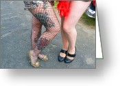 Pinups Greeting Cards - Fishnet and Tattoos Greeting Card by Pamela Patch
