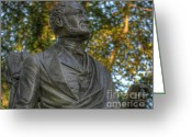 Commission Greeting Cards - Fitz Greene Halleck in Central Park II Greeting Card by Lee Dos Santos