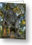 Cemetery Gate Greeting Cards - Fitz Greene Halleck in Central Park Greeting Card by Lee Dos Santos