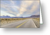 Double Yellow Line Greeting Cards - Fitzroy Group From East Of El Chalten Greeting Card by David Madison