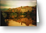 Li Van Saathoff Greeting Cards - Fiume Arno Greeting Card by Li   van Saathoff