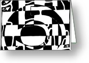 Learn To A Maze Greeting Cards - Five Maze Greeting Card by Yonatan Frimer Maze Artist