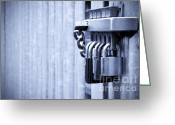 Precaution Greeting Cards - Five padlocks Greeting Card by Richard Thomas