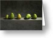 Minimalist Greeting Cards - Five Pears Greeting Card by Cynthia Decker