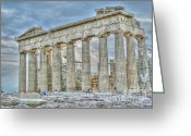 Parthenon Greeting Cards - Fixer Upper Greeting Card by David Bearden