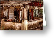 Dilapidated Greeting Cards - Fixer Upper Greeting Card by David Patterson