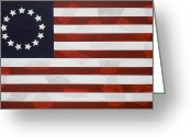 We The People Greeting Cards - Flag - Constitution Greeting Card by Kelvin Kelley