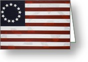Betsy Ross Greeting Cards - Flag - Declaration Greeting Card by Kelvin Kelley
