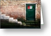 Bricks Greeting Cards - Flag Greeting Card by David Bowman