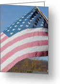 Static Studios Greeting Cards - Flag Greeting Card by Static Studios