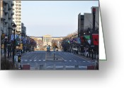 Philadelphia Museum Of Art Greeting Cards - Flags of the World Greeting Card by Bill Cannon