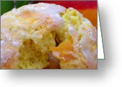 James Temple Greeting Cards - Flaky Mango Scones with Lime Glaze Greeting Card by James Temple