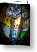Balloon Festival Greeting Cards - Flame On Greeting Card by Bob Orsillo