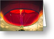 Hot Air Balloon Photo Greeting Cards - Flame On Hot Air Balloon Greeting Card by Bob Orsillo