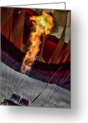 Balloon Festival Greeting Cards - Flame On Two Greeting Card by Bob Orsillo