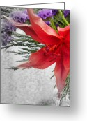 Impassioned Greeting Cards - Flame Greeting Card by Sian Lindemann
