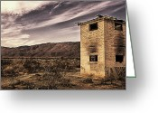 Old Out Houses Greeting Cards - Flamed Out Greeting Card by Ron Regalado