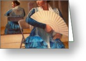 Dancer Greeting Cards - Flamenco 1 Greeting Card by Donelli  DiMaria