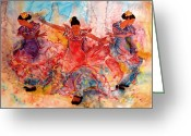 Dancer Art Greeting Cards - Flamenco Greeting Card by John Yato