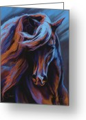 Horses Pastels Greeting Cards - Flamenco Greeting Card by Kim McElroy