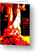 Dancer Art Greeting Cards - Flamenco Passion Greeting Card by Sophie Vigneault