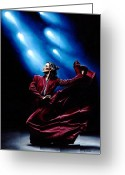 Signed Painting Greeting Cards - Flamenco Performance Greeting Card by Richard Young