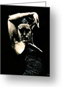 Emotion Art Greeting Cards - Flamenco Soul Greeting Card by Richard Young