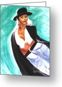 Actual Greeting Cards - Flamenco Greeting Card by Stanley Morganstein